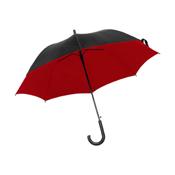 Umbrella with automatic opening. in red