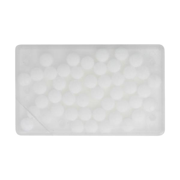 Rectangular mint card in transparent