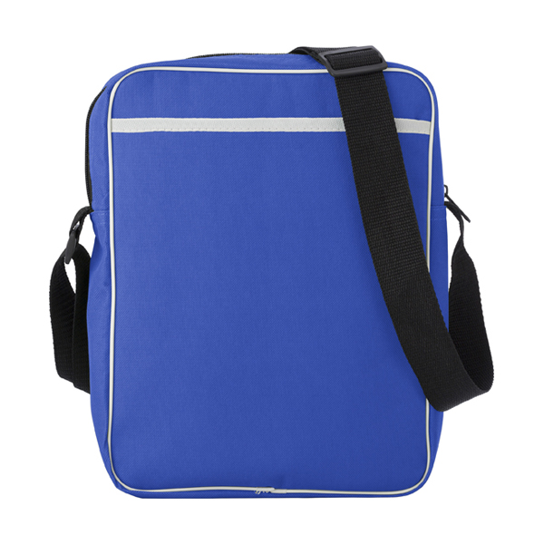 Polyester 600D retro style bag. in cobalt-blue