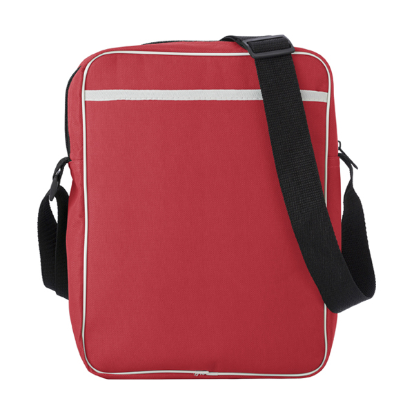 Polyester 600D retro style bag. in red