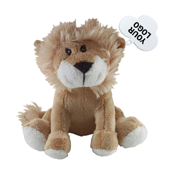 Soft toy lion. in brown