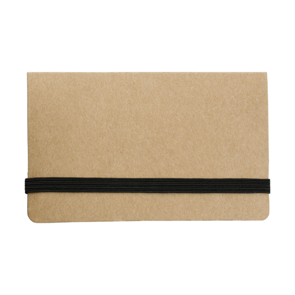 Card case with sticky tabs in brown