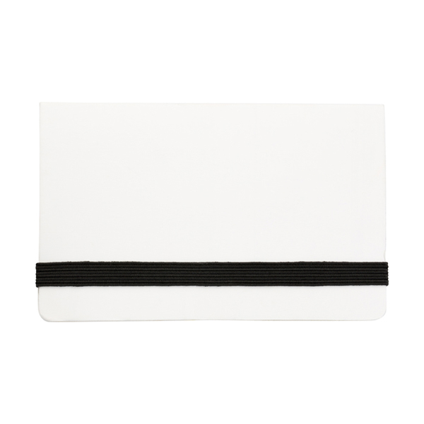 Card case with sticky tabs in white