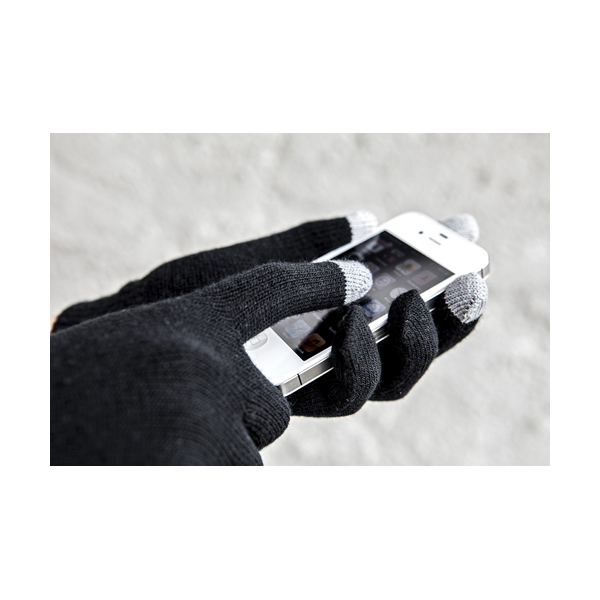 Gloves for capacitive screens. in black