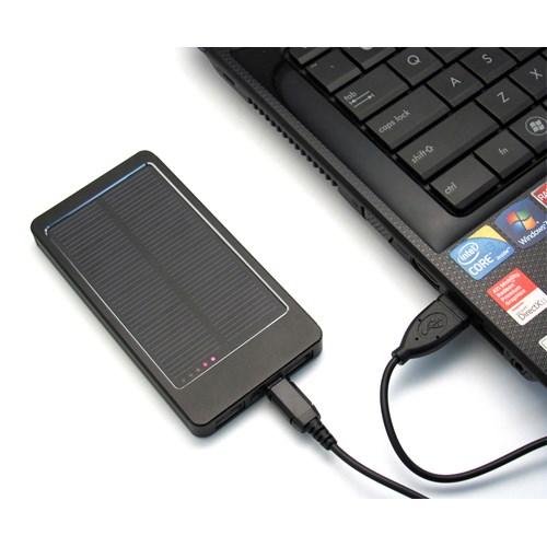 Aluminium solar charger in black