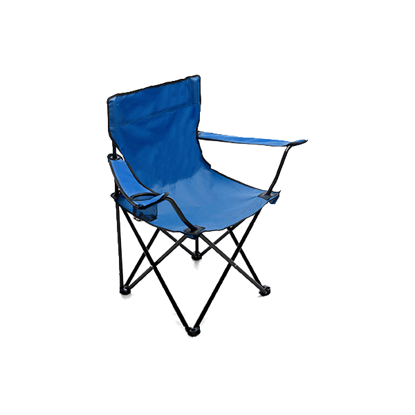 Folding leisure chair. in cobalt-blue