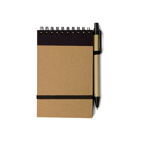 Wire bound notebook in