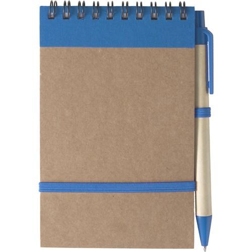 Wire bound notebook in light-blue