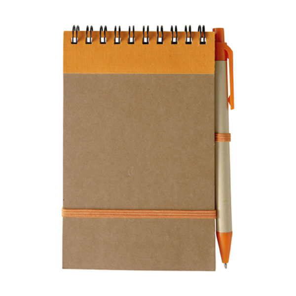 Wire bound notebook in orange