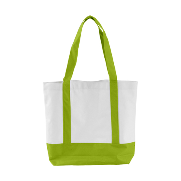 Shopping bag in lime