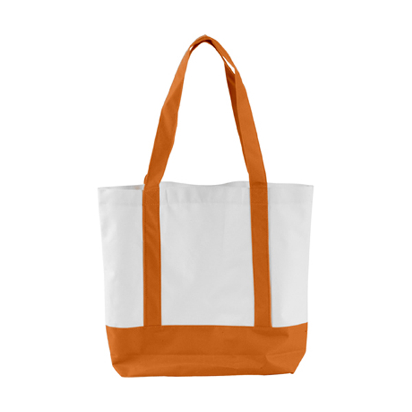 Shopping bag in orange