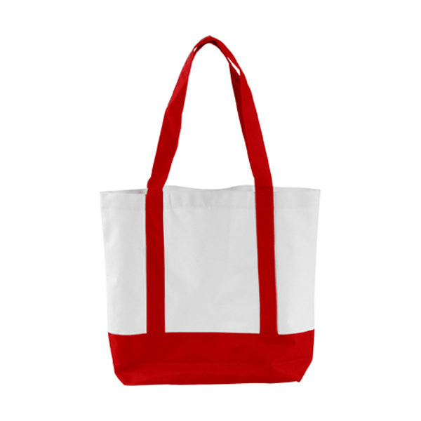 Shopping bag in red