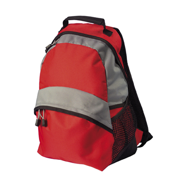 Backpack, 600d nylon in red