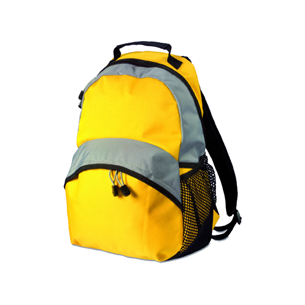 Backpack, 600d nylon in yellow