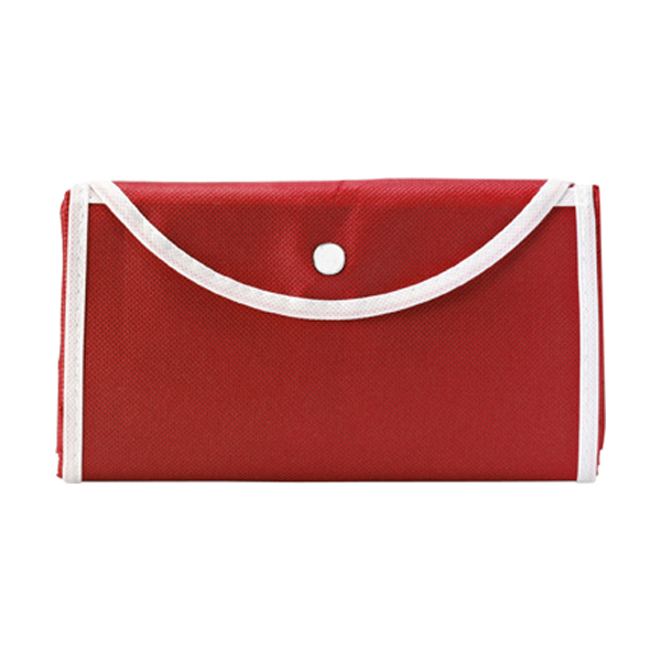 Foldable shopping bag in red
