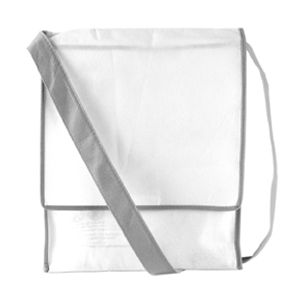Postman style bag in white