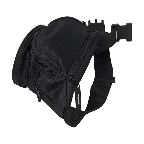 Polyester waist bag in black