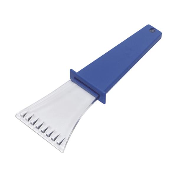 Plastic ice scraper. in blue