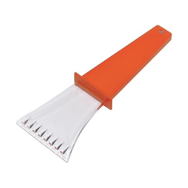 Plastic ice scraper. in orange