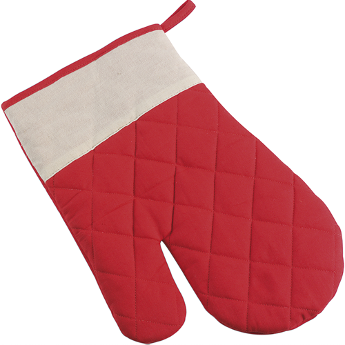 Cotton oven mitten, single in red