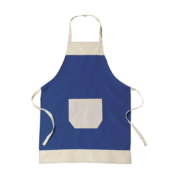 Cotton apron in blue
