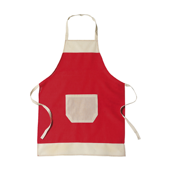 Cotton apron in red