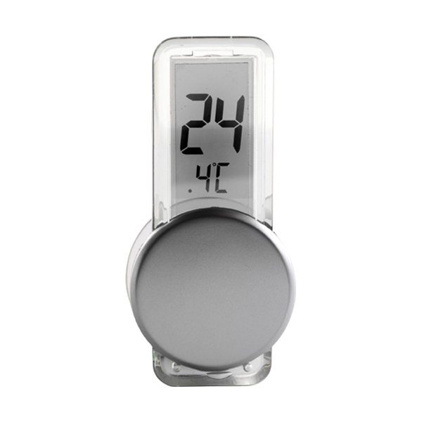 LCD thermometer in silver