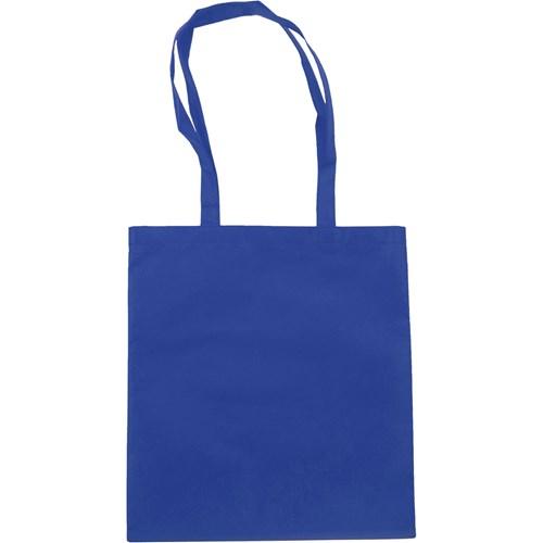 Exhibition bag, non woven  in cobalt-blue