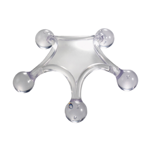 Body massager in transparent