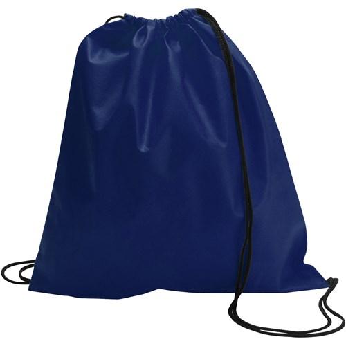 Drawstring bag, non woven  in blue