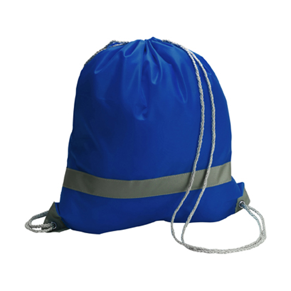 Drawstring backpack in cobalt-blue