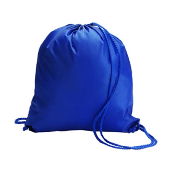 Drawstring backpack in cobalt-blue