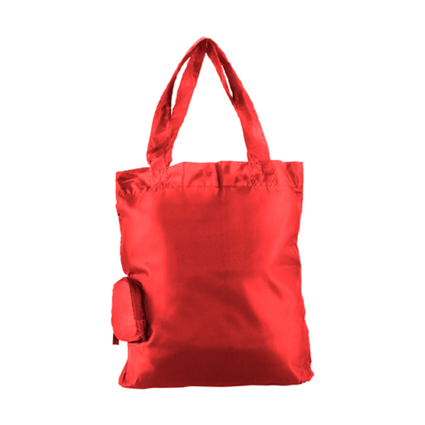 Foldable shopping bag in white