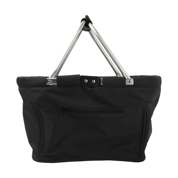 Foldable shopping bag in black