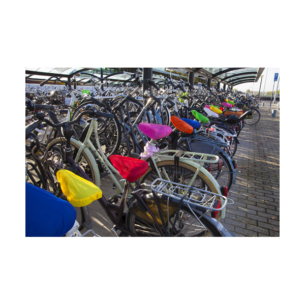 Polyester bicycle cover in yellow