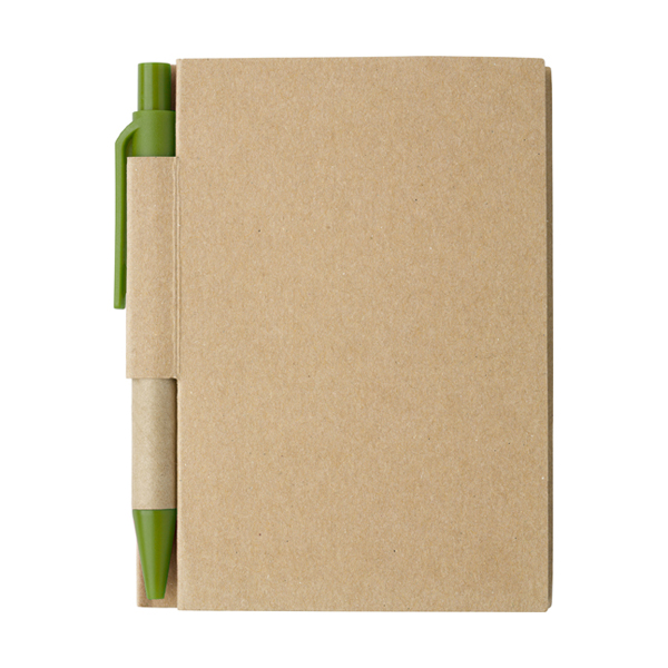 Small notebook in light-green