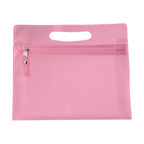 Frosted toilet bag. in pink