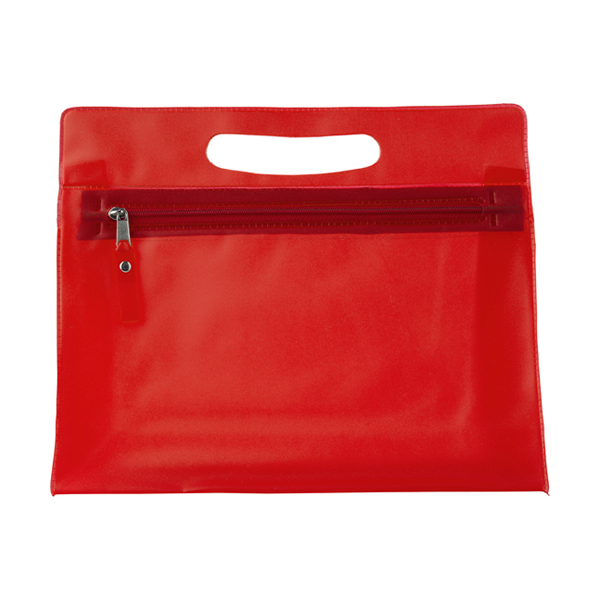 Frosted toilet bag. in red