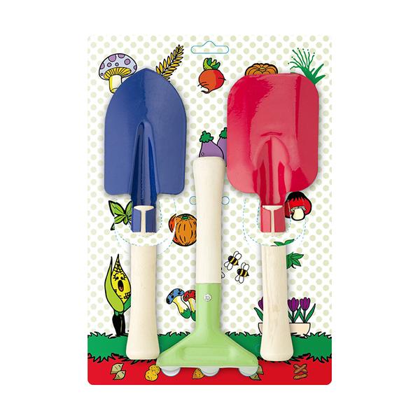 Garden tool set for children. in multicoloured