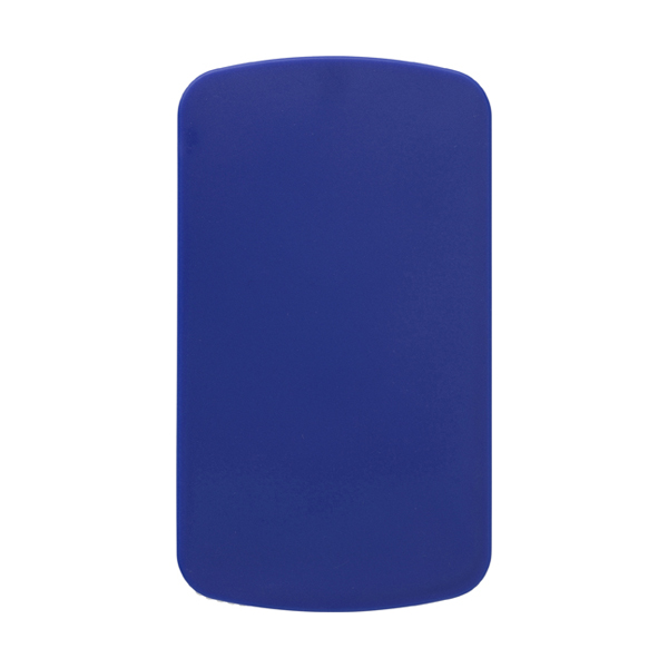 Pocket mirror and file. in cobalt-blue