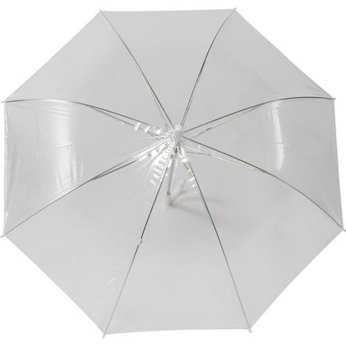 Transparent umbrella. in white