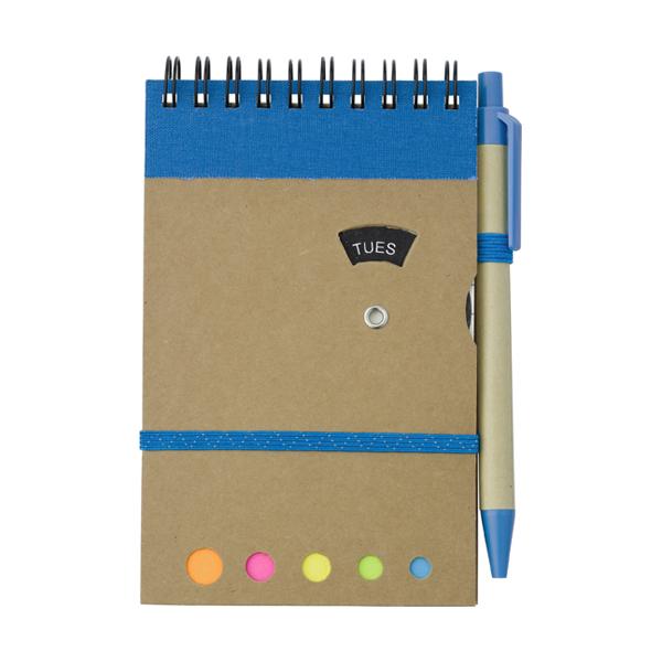 Wire bound notebook. in light-blue