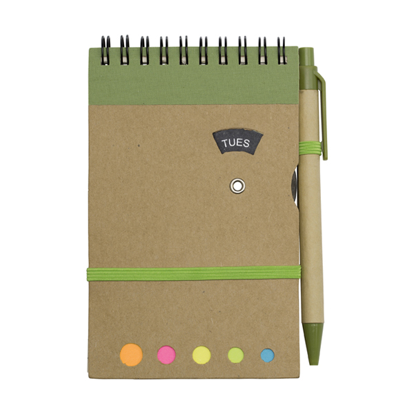 Wire bound notebook. in light-green