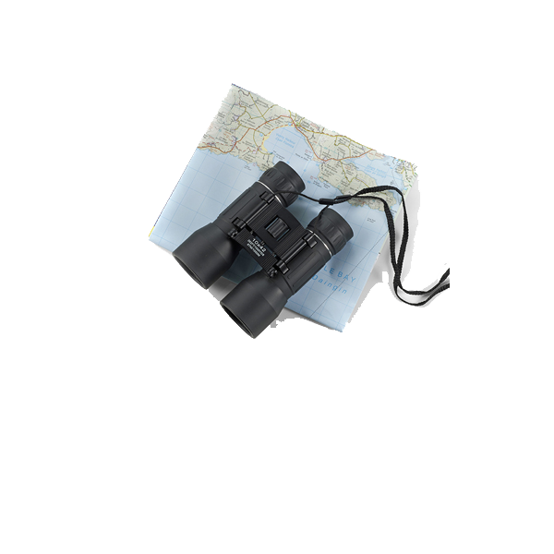 Binoculars. 10 x 42 magnification. in black