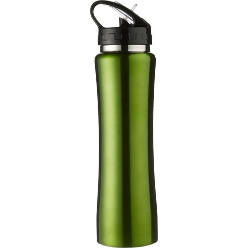 Aluminium sports flask, 500ml in light-green