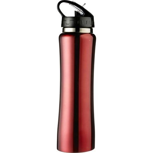 Aluminium sports flask, 500ml in red