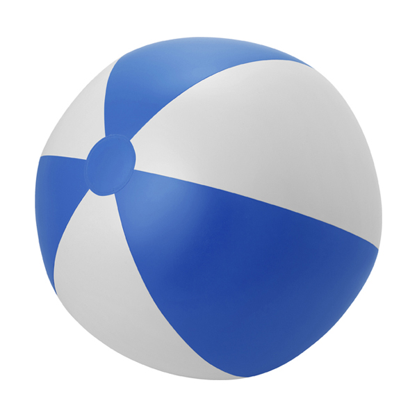 Large PVC  beach ball. in blue-and-white