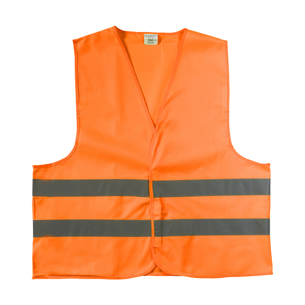 High visibility promotional safety jacket. in orange