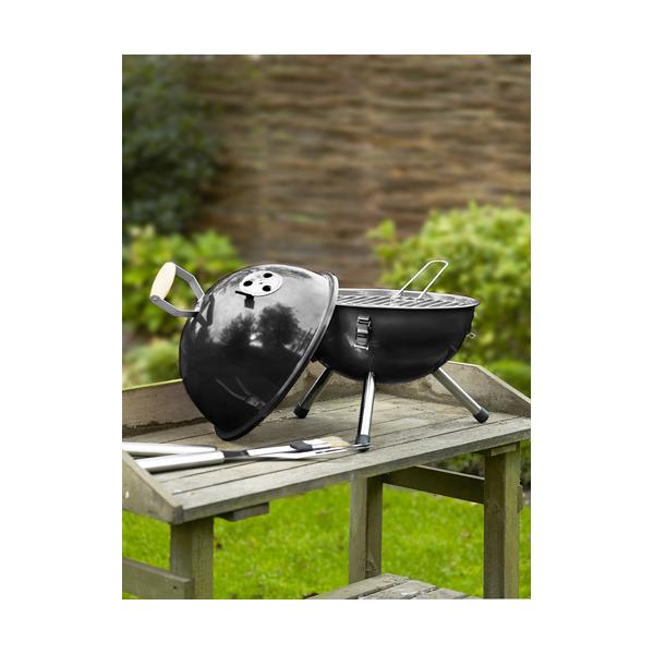 Mini portable barbecue. in black