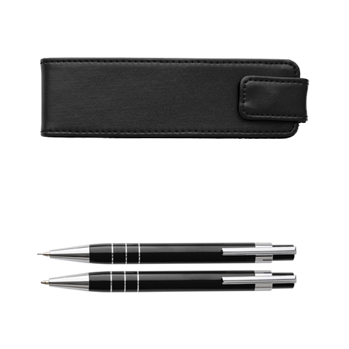 Writing set in a pouch. in white